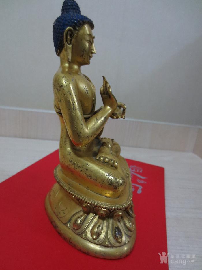 铜鎏金佛像图5