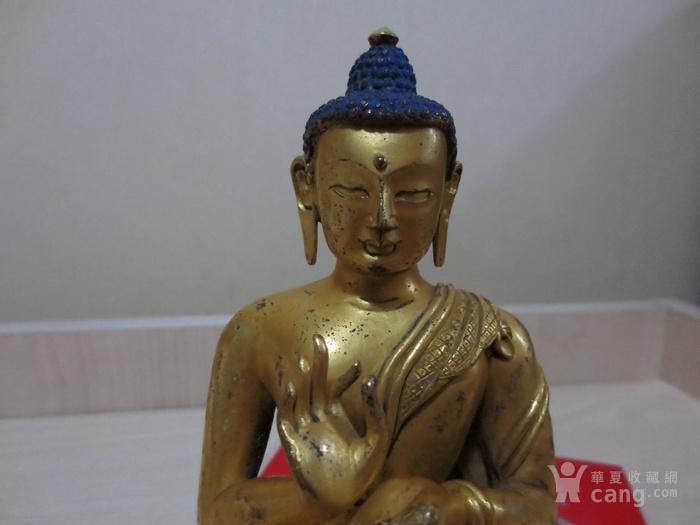 铜鎏金佛像图7