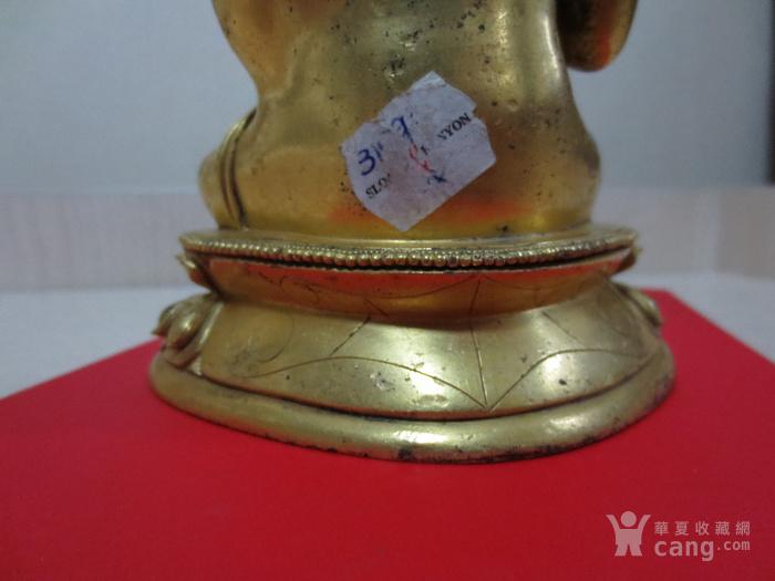 铜鎏金佛像图9