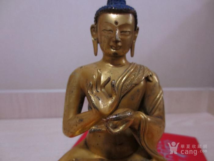 铜鎏金佛像图11