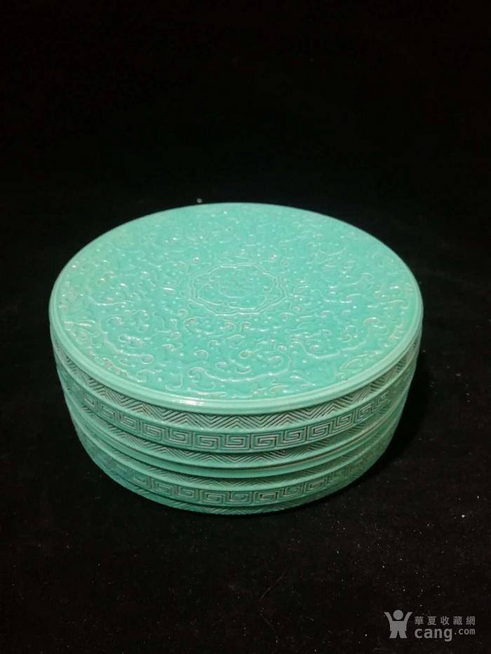 乾隆单色釉粉盒图1