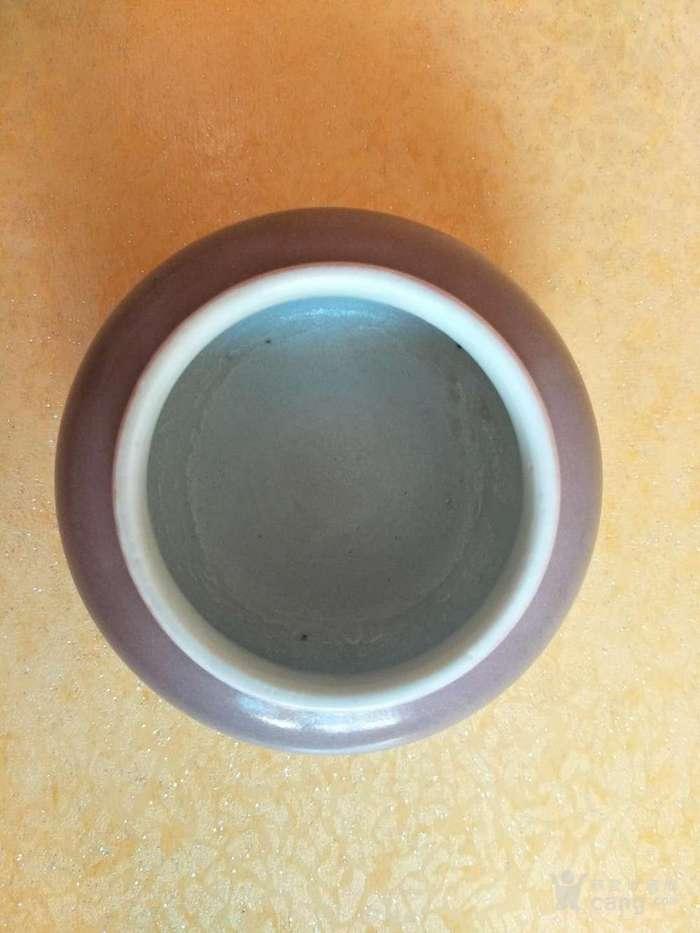 清末豇豆红水盂图2