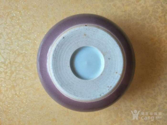 清末豇豆红水盂图3