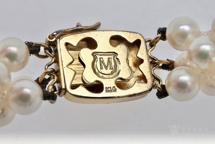 珍珠之王MIKIMOTO御本木14K金AKOYA珍珠手链。图5