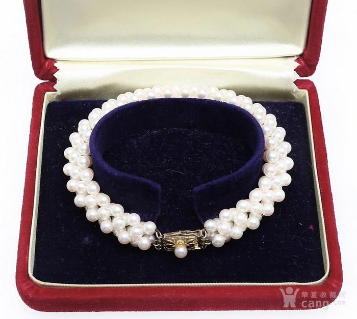 珍珠之王MIKIMOTO御本木14K金AKOYA珍珠手链。图2
