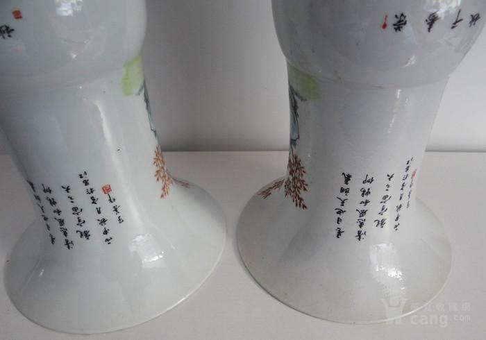 江西瓷器大花觚一对儿图8