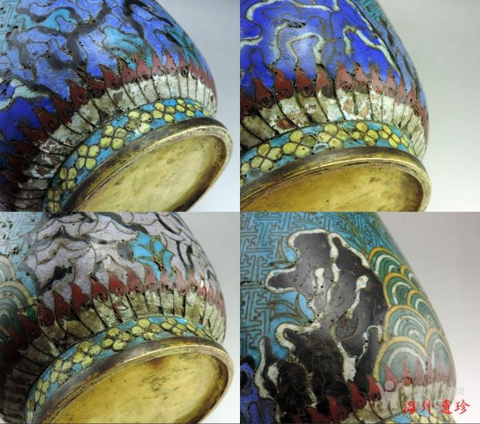 清代 铜胎掐丝珐琅摇钱树纹棒槌瓶 56.5厘米图11
