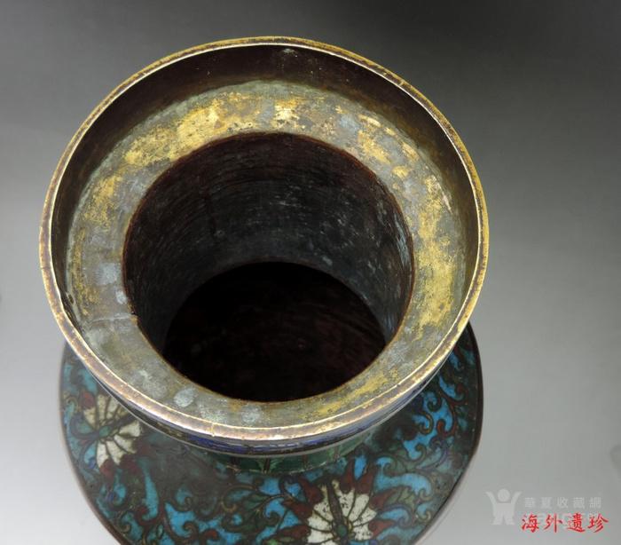 清代 铜胎掐丝珐琅摇钱树纹棒槌瓶 56.5厘米图7