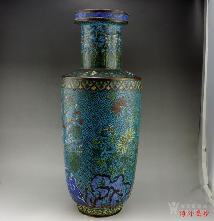 清代 铜胎掐丝珐琅摇钱树纹棒槌瓶 56.5厘米图4