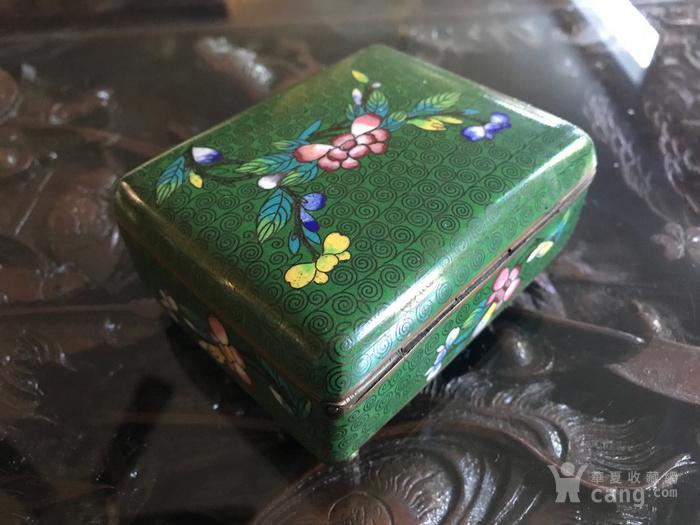 晚清民国景泰蓝掐丝珐琅文盒两只图5
