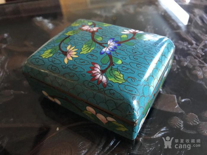 晚清民国景泰蓝掐丝珐琅文盒两只图6