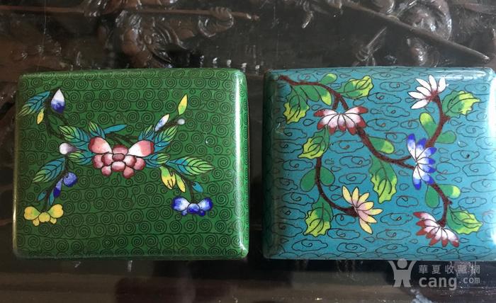 晚清民国景泰蓝掐丝珐琅文盒两只图3