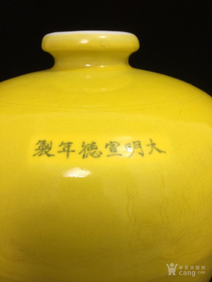 明,黄釉暗纹龙纹梅瓶图7