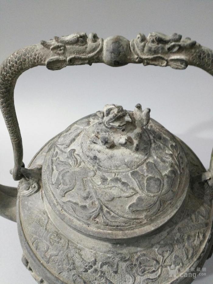 旧藏乾隆御制青tong大茶壶 八仙壶 图3