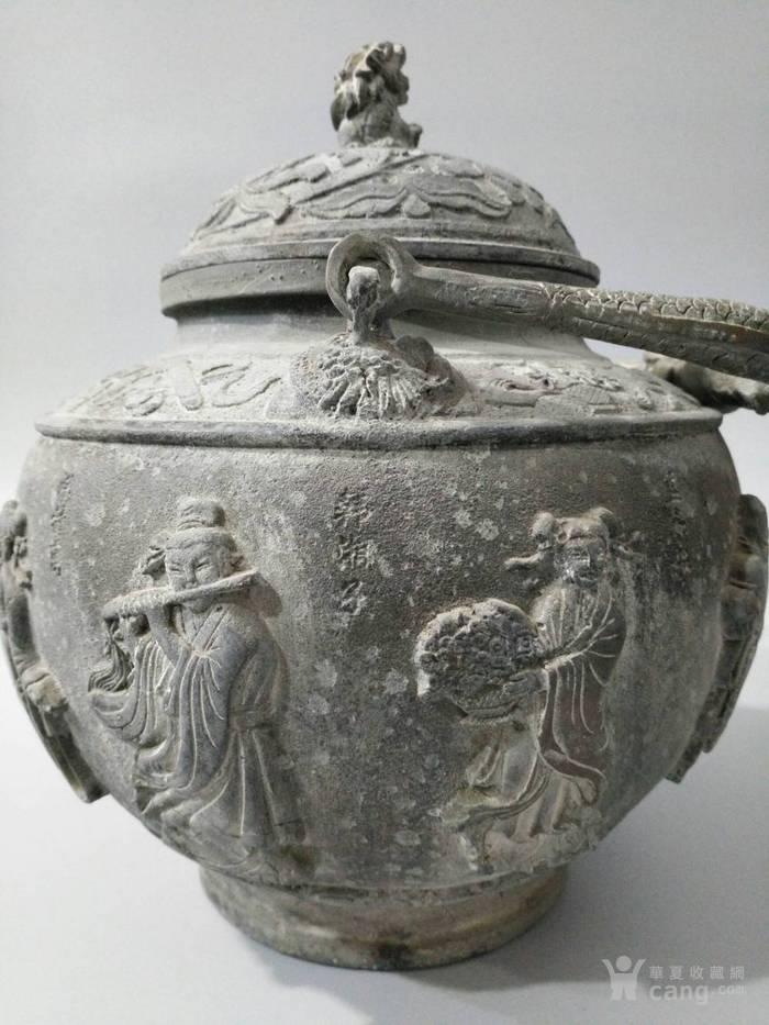 旧藏乾隆御制青tong大茶壶 八仙壶 图6