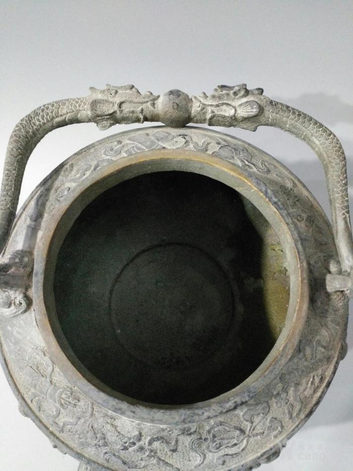 旧藏乾隆御制青tong大茶壶 八仙壶 图8