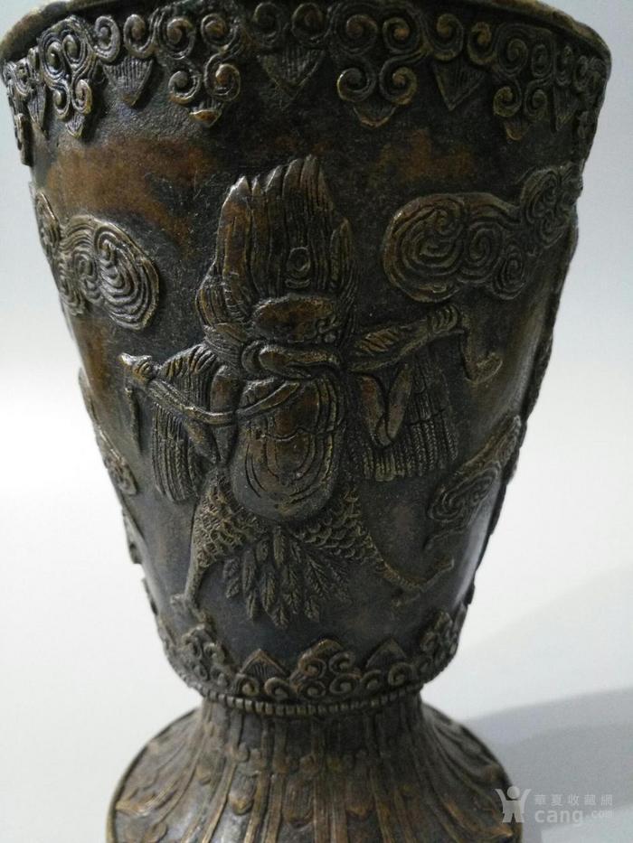 lao黄铜喇叭形花瓶 大鹏金翅鸟 图7