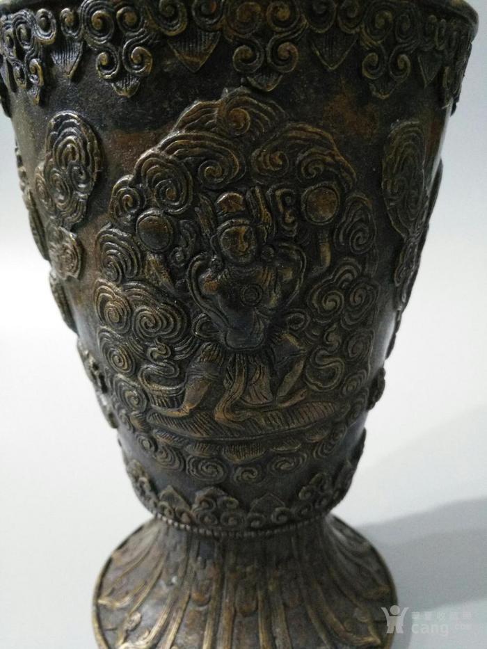 lao黄铜喇叭形花瓶 大鹏金翅鸟 图8