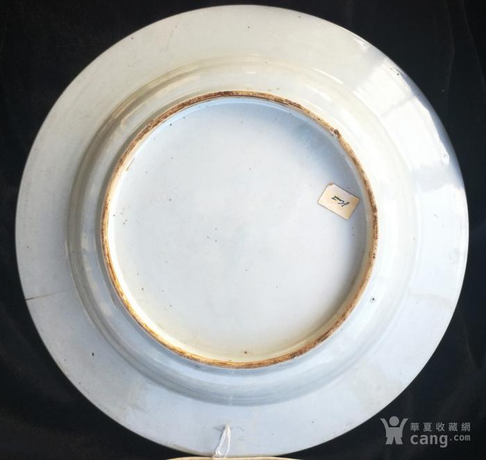 清 雍正 仕女携琴纹 粉彩大盘图5