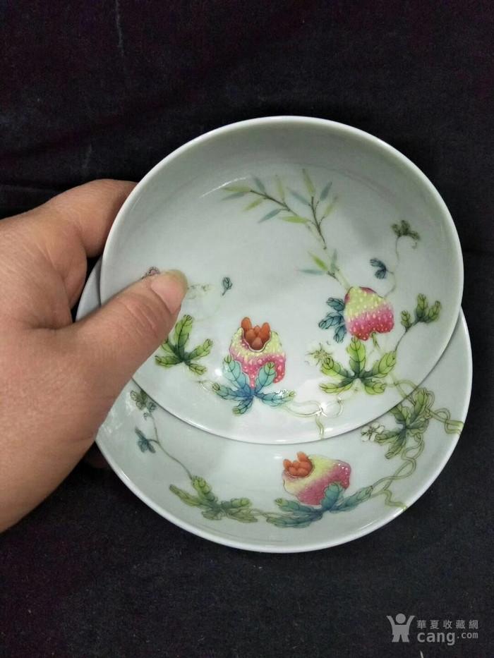咸丰粉彩祝寿盖碗图9