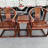 古董老红木家具老料新作海南黄花梨圈椅皇宫椅