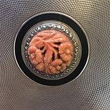 英国古董纯银粉盒镶珊瑚