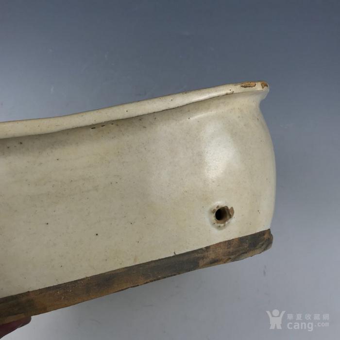 宋 磁州窑开光褐彩牛纹瓷枕图8