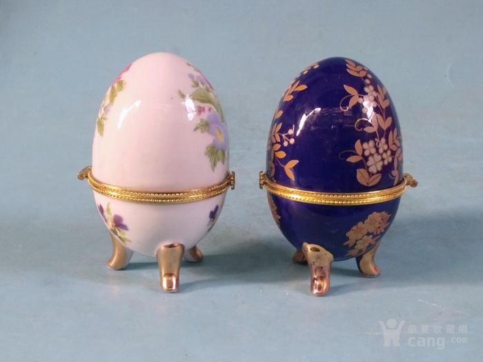 老厂货,2个蛋形首饰盒图2