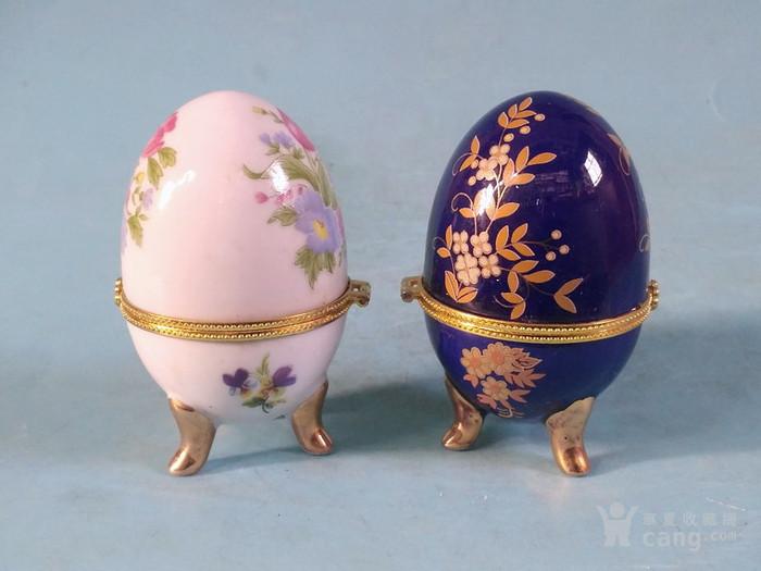 老厂货,2个蛋形首饰盒图3