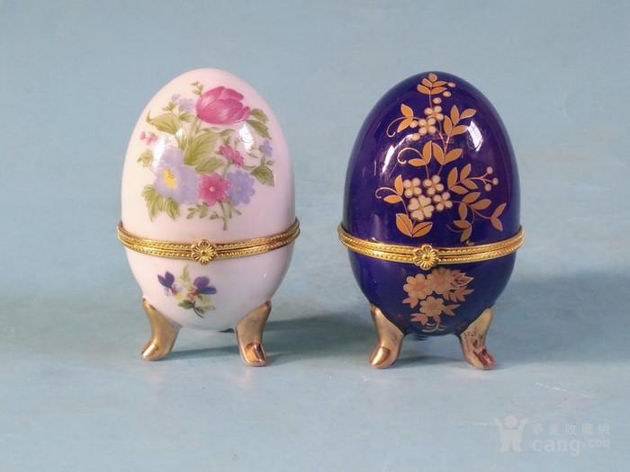 老厂货,2个蛋形首饰盒图1