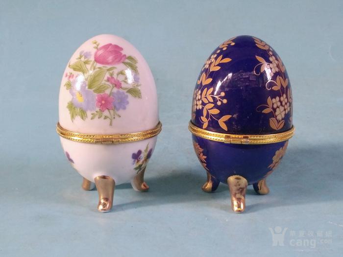 老厂货,2个蛋形首饰盒图4