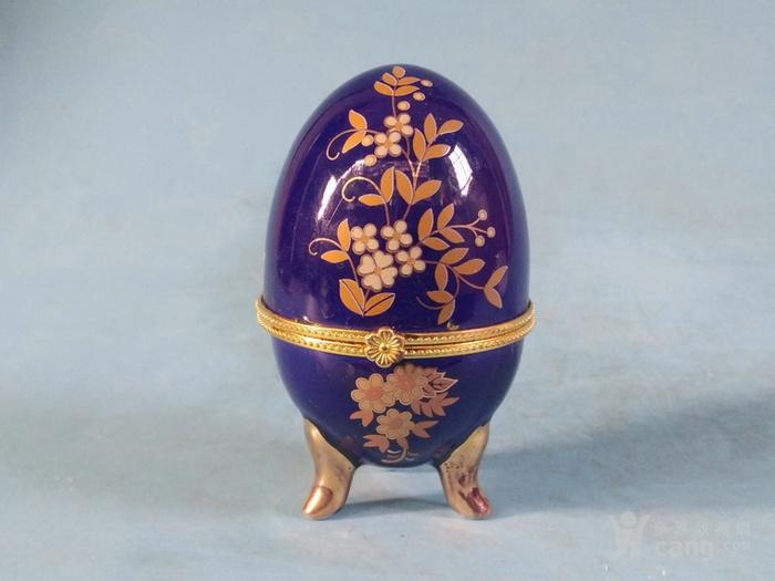 老厂货,2个蛋形首饰盒图9