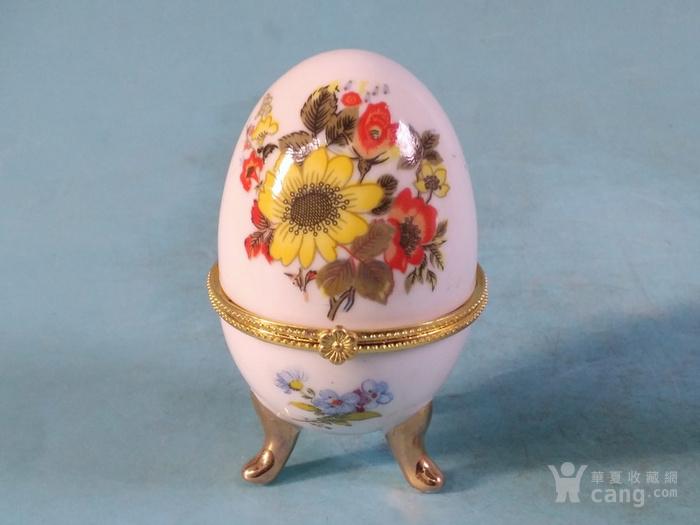 老厂货,一对蛋形首饰盒图9