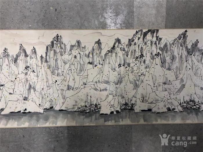 吴冠中千峰映日手卷图5