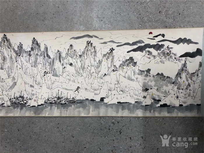 吴冠中千峰映日手卷图4