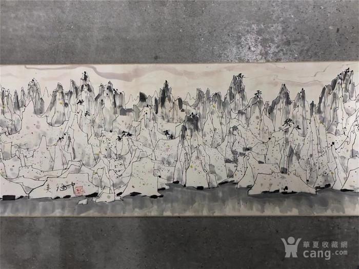 吴冠中千峰映日手卷图6