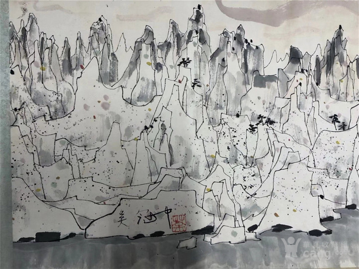 吴冠中千峰映日手卷图8