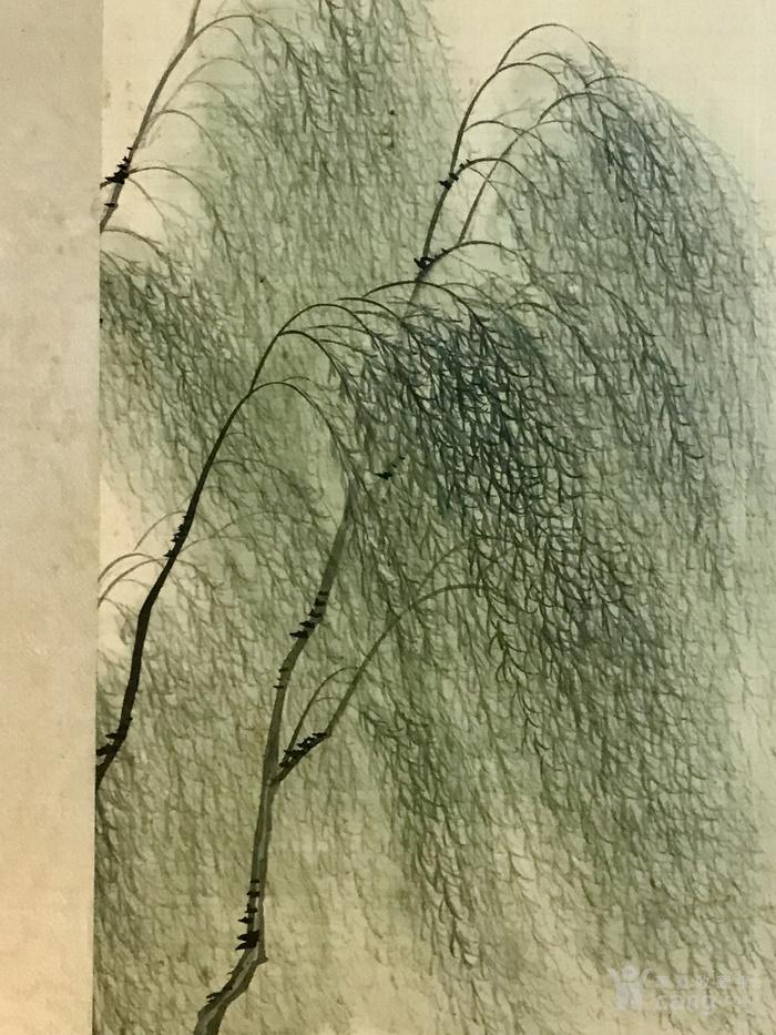 晚清民国绢本设色仕女图,带裱框图7