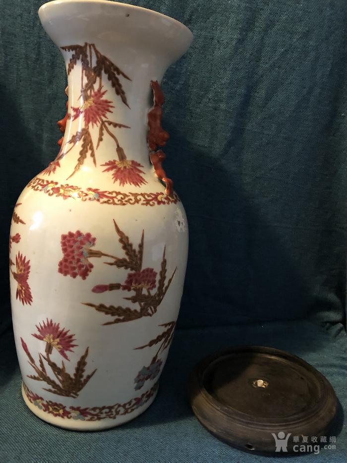 粉彩花卉纹瓶#图1