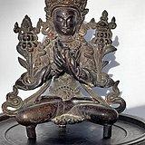 明代合金铜文殊菩萨像