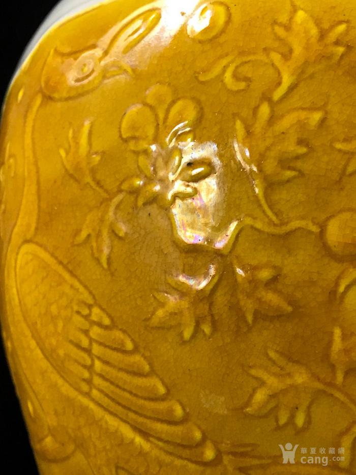 明宣德青花浮雕孔雀戏牡丹纹梅瓶42 26图7