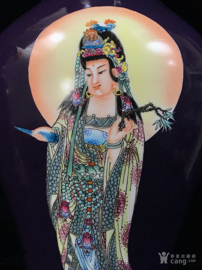 清乾隆粉彩站莲观音像鱼尾瓶39 19图3