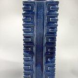 清中期蓝釉八卦瓶