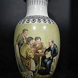 文革人物花瓶