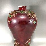 单色釉镶嵌宝石梅瓶