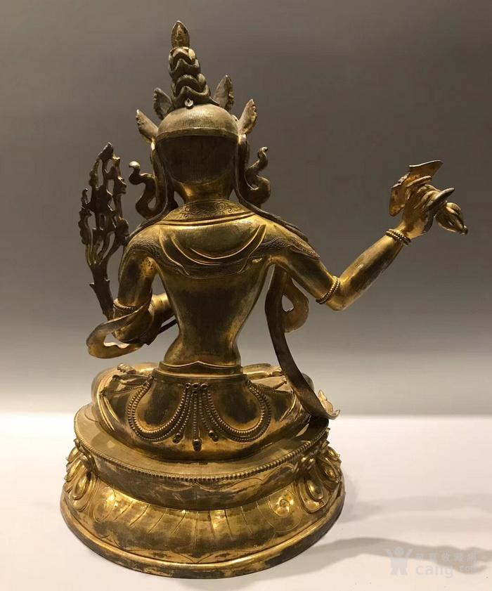 清 铜鎏金文殊菩萨 高34cm图6