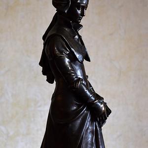 19世纪法国雕塑大师Aizelin大型青铜雕塑杰作玛格丽特