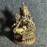 清代传世鎏金度母造像摆件老鎏金佛像古玩杂项鎏金度母像