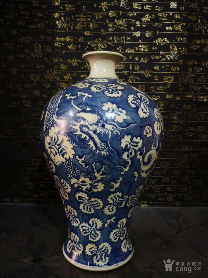 清道光青花龙纹梅瓶图1