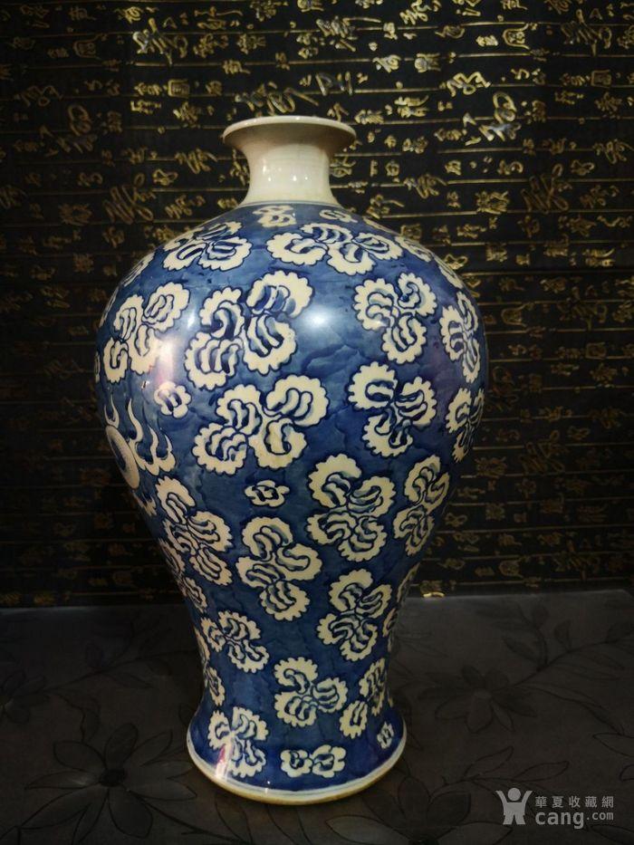 清道光青花龙纹梅瓶图3